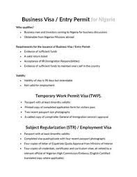 Visa Information And Fees For Nigeria By Aiesec In Nigeria Issuu