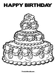 Small Picture Coloring Pages For Birthdays Birthday Coloring Page Kids About To