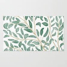 green leaf pattern rug by chotnelle society6 crochet leaf rug pattern