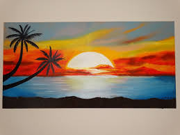 luis munoz sunset at the beach 2016 oil painting