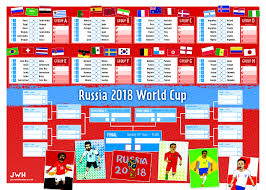 Illustrated World Cup Wall Chart Soccer