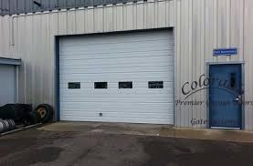 mercial garage door with exhaust port