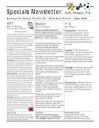 Education Newsletter Templates Special Education Newsletter Template Free Preschool Ideas