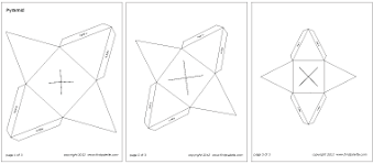 Square Pyramid Printable Templates Coloring Pages Firstpalette Com