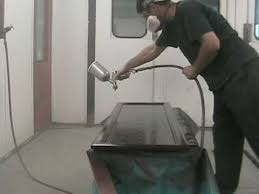 How to Spray Paint Kitchen Cabinets - YouTube