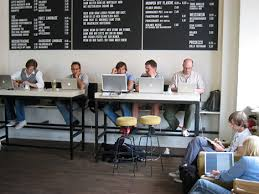 office coffee shop. home office coffee shop or coworking space a comparison l