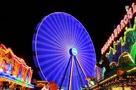 amusement park background bright