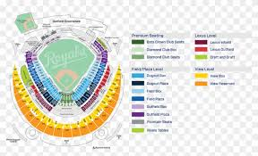 Royals Seating Chart Diamond Club View The Seating Chart Royals Stadium Map Hd Png Download