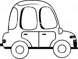 ブラックとホワイト ホット車ベクトル イラスト お絵かきのベクター