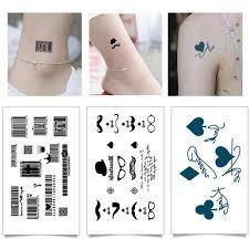 геометрия круто временные татуировки наклейки женщины минималистские линии