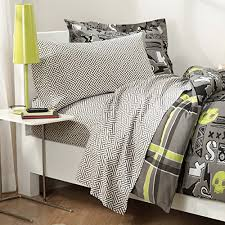 with 180tc sheets gray twin bedding