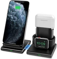 Seneo Wireless Charger, <b>3 in 1 Wireless</b> Charging Station for Apple ...