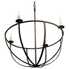 custom hand forged round iron pike chandelier