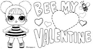 Thomas Valentine Coloring Pages With Queen Bee Lol Doll Page Lol