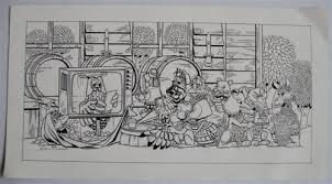 Dick Vlottes Originele Pentekening Kleurplaat Fabeltjeskrant 800