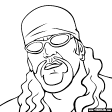 Small Picture Pro Wrestling Online Coloring Pages Page 1