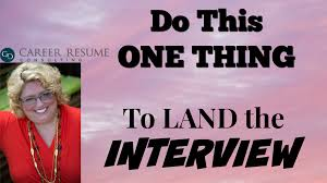 career resume consulting tammy kabell the 1 thing to do to get the face to face interview