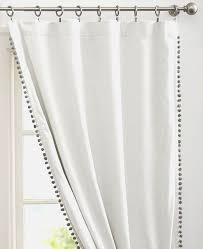 beautiful pom pom trimmed curtains double sided with pom pom tiebacks made with high
