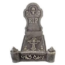 3pc Deluxe Foam Tombstone Bed <b>Decorative Halloween Scene</b> Prop