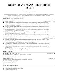 Hospitality Management Resume Samples Nmdnconference Com Example