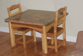 48 wooden kids table and chair set childrens wooden table