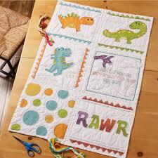 Shop Plaid Bucilla ® Baby - St&ed Cross Stitch - Crib Ensembles ... & Bucilla ® Baby - Stamped Cross Stitch - Crib Ensembles - Dino Baby - Quilt  Blocks Adamdwight.com