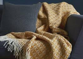 Mustard Yellow Throw Blanket Gorgeous The British Blanket Company Mustard Yellow Wool Throw