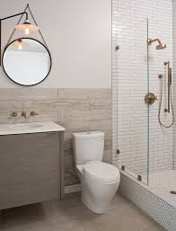 mirror wall decor circle panel: toto aquia bathroom contemporary with floating vanity glass panel hanging circle mirror