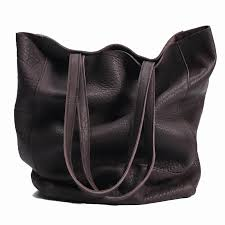 handmade retro vertical soft leather tote bag female shoulder bag new simple leather large capacity literary handbags for women leather goods purses for