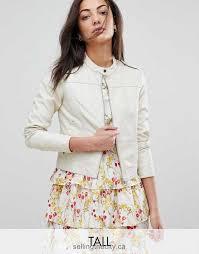 lovely vero moda women look biker oatmeal coats jackets leather jacket tall