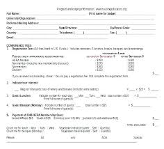 Event Application Form Template Registration Word Document