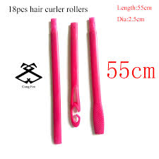 <b>18pcs</b>/<b>set</b> 55cm <b>hair rollers</b> plastic Magic <b>hair roller</b> new magic hair ...
