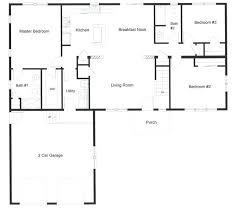 four bedroom ranch style house plans open floor plan with the privacy of a master bedroom on one side and 2 bedrooms 2 bedroom ranch home plans