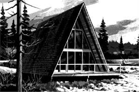 a frame house plans.  House 1461114  2Bedroom 970 Sq Ft A Frame House Plan  1461114 On Plans B