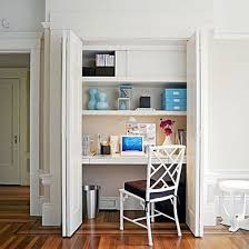 home office it. By Adding Shelves And Closed Storage To A Little-used Closet, You Can Create Functional Home Office In Which Everything Is Close At Hand When Need It, It