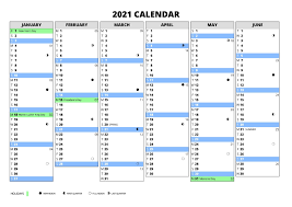 Free download printable yearly calendar 2021 ai vector print template, place for photo, company logo or graphics. 2021 Calendar With Week Numbers Free 365 Days Free Printable Calendar Monthly
