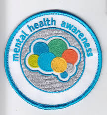 girl scouts mental health awareness patch international bipolar  mental health awareness patch