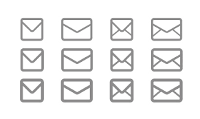 シンプルなメールアイコン素材 Ec Designデザイン