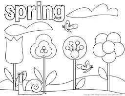 Coloring Pages Popular Spring Colouring Page Collection Of Free