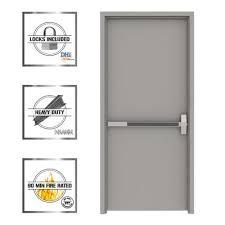 Commercial Door Handing Chart L I F Industries 36 In X 80 In Gray Flush Left Hand