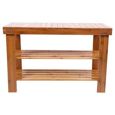 FREE Shipping 2 Tier <b>Solid Wood Shoe</b> Cabinet Nan Bamboo <b>Shoe</b> ...