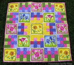 garden quilt. Summer Flower Garden Quilt Tutorial