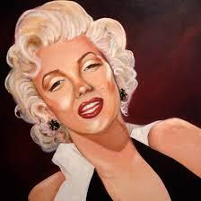 oil painting on canvas marilyn monroe