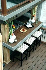 railing table deck rail bar tables patio full size of diy