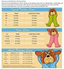 Big Feet Pjs Size Chart Missys Product Reviews Big Feet Pjs