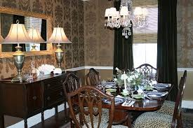 wallpaper dining room ideas classic dining room in gold wallpaper from thibaut traditional
