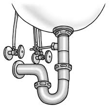 slide the short side of the p trap onto the tailpiece that drops down from the sink drain move the p trap up or down to align the trap arm with the opening