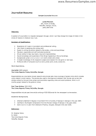 Journalist Resume Extraordinary Sample Journalism Resumes Tier Brianhenry Co Resume Template Ideas