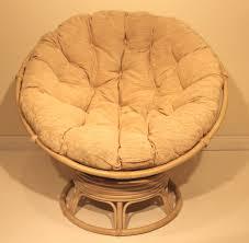Chair Rattan Wicker Swivel Rocking Round Papasan With Brown Cushion For  Home Furniture Ideas Papa San Large