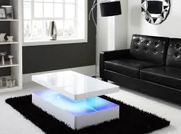 alluring living room tables uk and tiffany white high gloss rectangular coffee table with led lighting